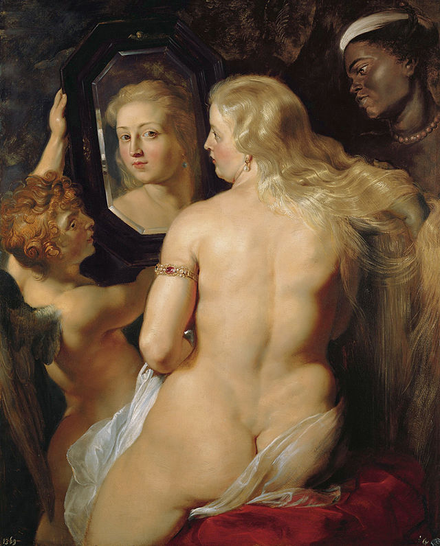 Venus at a Mirror, Rubens circa 1615