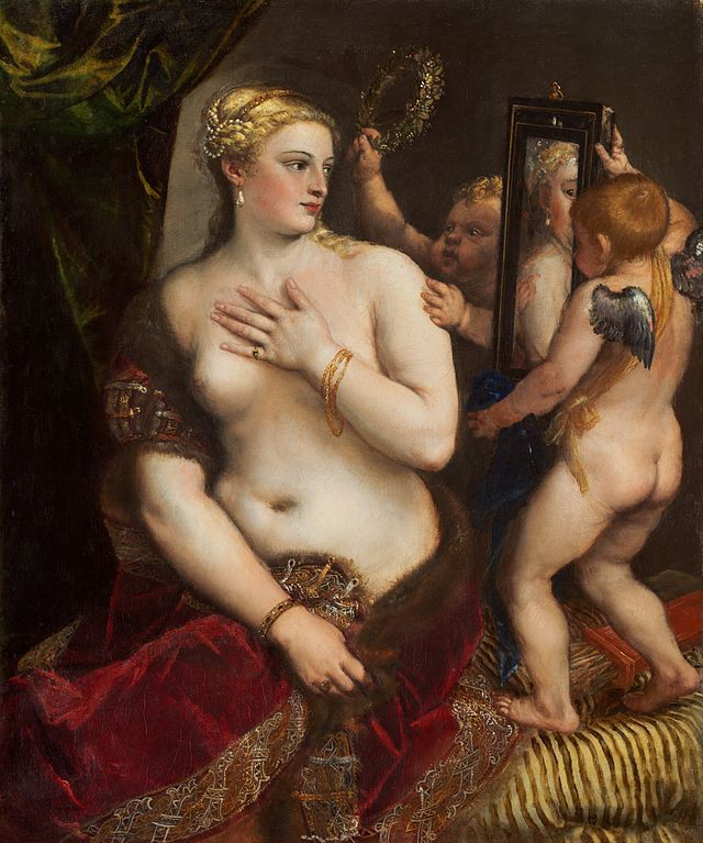 Venus with a Mirror, Titian circa 1555